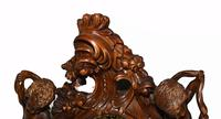 Carved Italian Grandfather Clock Walnut Cherubs (7 of 16)