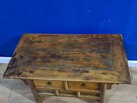 Chinese 19th Century Elm Altar Prayer Coffee Table 'Qing Dynasty' (2 of 8)