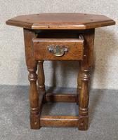 Oak Octagonal Occasional Table - Siesta Furniture (4 of 7)