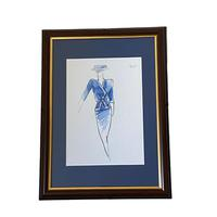 Set of 9 Original Drawings by Ian Thomas - Dressmaker for the Royal Family (4 of 9)