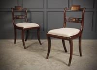 Set of 12 Regency Brass Inlaid Dining Chairs (5 of 20)