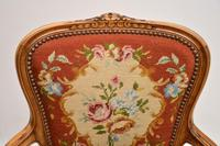 Pair of Antique French Tapestry Salon Armchairs (9 of 10)