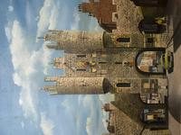 """Fine Oil Painting Architectural Entrance """"Micklegate Bar"""" York Signed F Chilton (29 of 31)"""