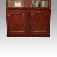 Victorian mahogany library bookcase (3 of 11)