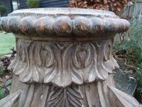 Stunning 18th / 19th Century Walnut ? Hand Carved Corinthian Column Bases (10 of 12)
