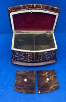 Victorian Tortoiseshell Tea Caddy with Mother of Pearl Inlay (20 of 20)
