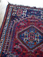 Vintage Persian Handmade Rug with a Vibrant Red & Blue Ground (7 of 8)