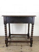 Antique Oak Carved Green Man Side Table (10 of 10)