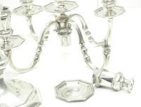 English Solid Silver Centre Piece Candelabra, Super Design Fresh and Clean Art Deco c.1930 (11 of 12)