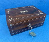 William IV Rosewood Box with Mother of Pearl Inlay (2 of 9)