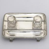 Quality Silver Inkstand with Twin Inkbottles by Elkington & Co. 1898 (7 of 12)