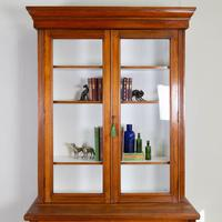 Handsome Victorian Walnut Glazed Bookcase C1890 (5 of 12)