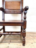 Pair of Antique Oak Throne Chairs (7 of 13)