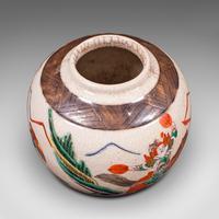 Small Antique Flower Vase, Japanese, Ceramic, Posy Urn, Edo Period c.1850 (7 of 12)