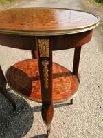 French Parquetry Occasional / Lamp Table (5 of 9)
