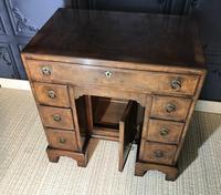 George III Style Burr Walnut Desk c.1920 (11 of 20)