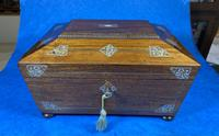 William IV Rosewood Jewellery Box with Inlays (6 of 12)