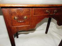 George III Oak 3 Drawer Lowboy (3 of 7)
