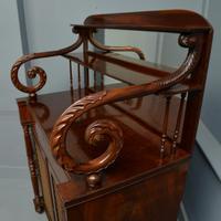 Fine Regency Mahogany Chiffonier Side Cabinet (3 of 18)