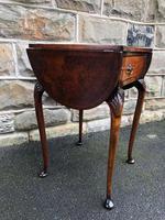 Antique Burr Walnut Drop Flap Side Table (9 of 9)