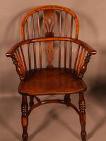 A Set of 4 Yew Tree Windsor Chairs Rockley Workshop (10 of 21)