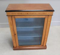 19th Century Walnut & Banded Display Bookcase (3 of 7)