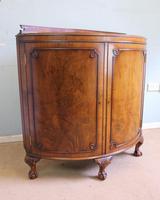 Figured Walnut Demi Lune Sideboard Side Cabinet (8 of 10)