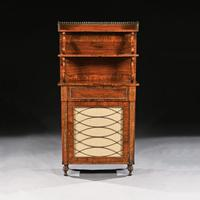 Fine Regency Brass Inlaid Rosewood Chiffonier Of Narrow Proportions (6 of 7)