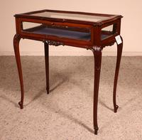 Small Mahogany Showcase Cabinet from Jeweler or Exhibition 19th Century (12 of 12)