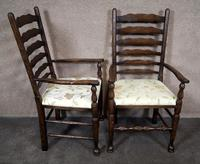 Pair Of Oak Ladder Back Armchairs (2 of 9)