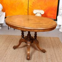 Walnut Marquetry Breakfast Table 19th Century (9 of 10)