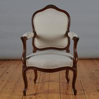 Pair of French Louis XV Style Walnut Armchairs (8 of 9)
