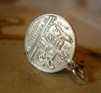 Antique Pocket Watch Chain Coin Fob 1902 Coronation King Edward V11 & Alexandra (3 of 3)