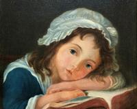 Enchanting Original 20thc English Sch Oil Portrait Painting Of A Victorian Child (5 of 8)