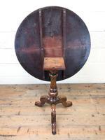Antique Mahogany Tilt Top Table (7 of 7)