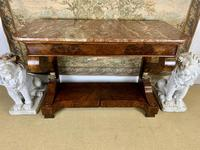 Regency Burr Walnut Console Table with Marble Top (8 of 9)