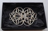 Victorian 1899 Hallmarked Solid Silver Nurses Belt Buckle William Hutton (8 of 8)