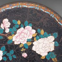 Antique Decorative Plate, Japanese, Cloisonne, Fruit, Serving Dish, Victorian (8 of 9)