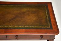 Antique  William IV Mahogany  Leather Top Writing Table / Desk (7 of 12)