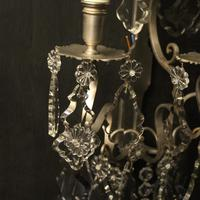 French Pair of Silver Gilded Wall Sconces (8 of 10)