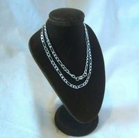 """Vintage Silver Necklace 1970s Figaro Link 925 Solid Silver 19"""" Length (2 of 11)"""
