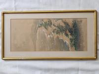 Three Japanese original ink/ watercolour lanscape paintings circa mid. 20th Century (12 of 20)