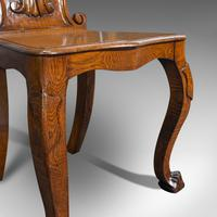 Pair of Antique Shield Back Chairs, Scottish, Oak, Hall Seat, Victorian c.1880 (9 of 12)