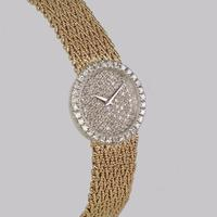 Bueche Girod for Roy King Diamond Bracelet Watch Ladies Vintage 9ct Gold 1.5 carat Diamond Watch Hallmarked 1979 (2 of 19)