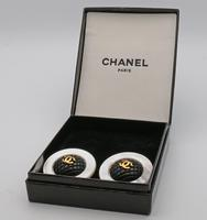 Chanel Mother of Pearl Vintage Earrings