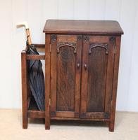 Edwardian Oak Hall Cabinet (6 of 10)