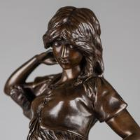 Large 19th Century French Bronze Sculpture of Female - Signed A.Gaude (8 of 9)