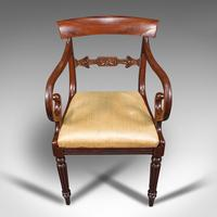 Antique Elbow Chair, English, Mahogany, Carver, Drop-in Seat, Regency c.1820 (8 of 12)