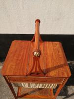 Beautiful Sheraton Revival Satinwood Sewing Table (9 of 11)