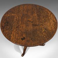 Antique Circular Table, English, Oak, Folding, Side, Occasional, Georgian, 1780 (9 of 9)